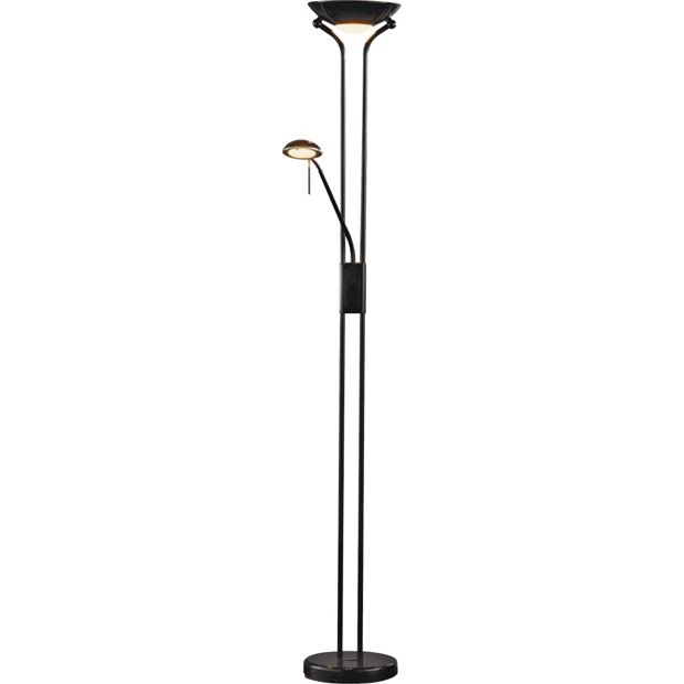 Buy home father and child uplighter floor lamp black at for Argos tiffany floor lamp