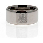 more details on Stainless Steel Man City Ring - Size U.
