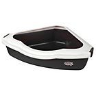 more details on Pet Brands Corner Cat Litter Tray with Black Rim.