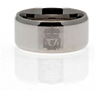 more details on Stainless Steel Liverpool Ring - Size R.