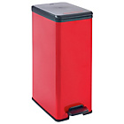 more details on Curver Deco 40 Litre Slim Bin - Red.