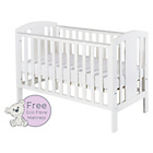 more details on Baby Elegance Laba Cot with Mattress - White.
