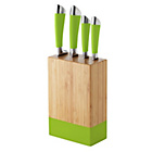 more details on ColourMatch 4 Piece Knife Block Set - Apple Green.