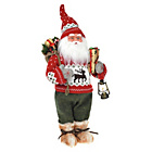 more details on Standing Santa with Sack and Lantern - Red.