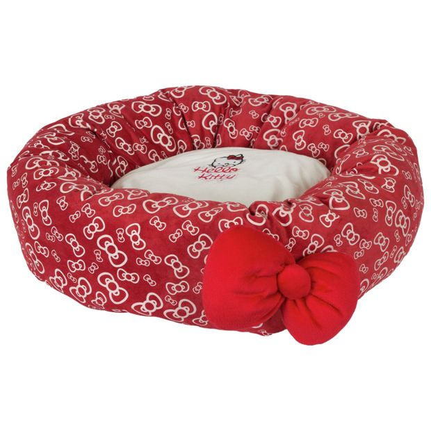 buy hello kitty bowtastic donut bed at your. Black Bedroom Furniture Sets. Home Design Ideas