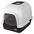 more details on Pet Brands Oval Cat Litter Tray with Hood - Black.