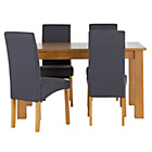 more details on Heart of House Hastings Ext Table & 4 Charcoal Chairs.