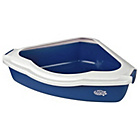 more details on Pet Brands Corner Litter Tray with Rim - Blue.