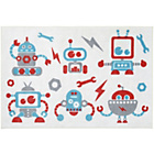 more details on White Nursery Rug with Robots - 100x150cm.