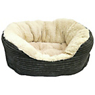 more details on Jumbo Cord Plush Dog Bed - Large.