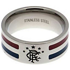 more details on Stainless Steel Rangers Striped Ring - Size U.