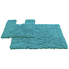 more details on Tufted Twist 2 Piece Bath Mat Set - Aqua.