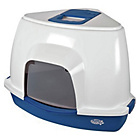 more details on Pet Brands Corner Cat Litter Tray with Hood - Blue.