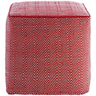 more details on Habitat Durrie Cube Pouf - Red and White.