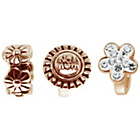 more details on Link Up Rose Gold Plated Silver No1 Mum Charms - Set of 3.