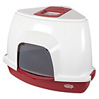 more details on Pet Brands Corner Cat Litter Tray with Hood - Red.