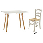 more details on Habitat Dining Set - Churchill Table and 2 Jak Chairs.