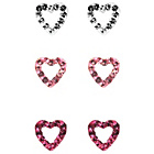 more details on Link Up S.Silver White/Rose/Fuchsia Crystal Heart Studs.