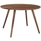 more details on Habitat Vince Round Dining Table - Walnut.