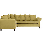 more details on Daisy Left Hand Corner Sofa Group - Lime with Cream Piping.