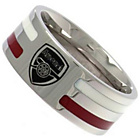 more details on Stainless Steel Arsenal Striped Ring - Size X.