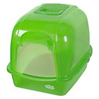 more details on Pet Brands Oval Cat Litter Tray with Hood - Green.