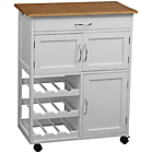 more details on Kitchen Trolley with Bamboo Top - White.