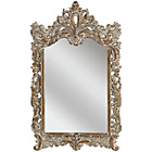 more details on Premier Housewares Dusty White Baroque Wall Mirror.