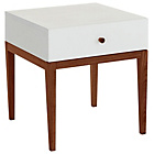 more details on Habitat Tatsuma 1 Drawer Bedside Unit - White and Walnut.