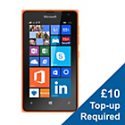 more details on EE Microsoft Lumia 435 Mobile Phone - Orange.