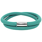 more details on Link Up 2 Row Turquoise Leather Cord Bracelet.