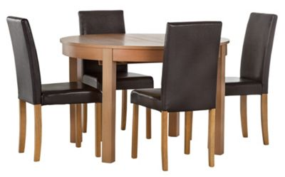 Buy HOME Woodbury Oval Extendable Table and 4 Chairs  : 4365514RSETTMBampwid620amphei620 from www.argos.co.uk size 620 x 620 jpeg 25kB
