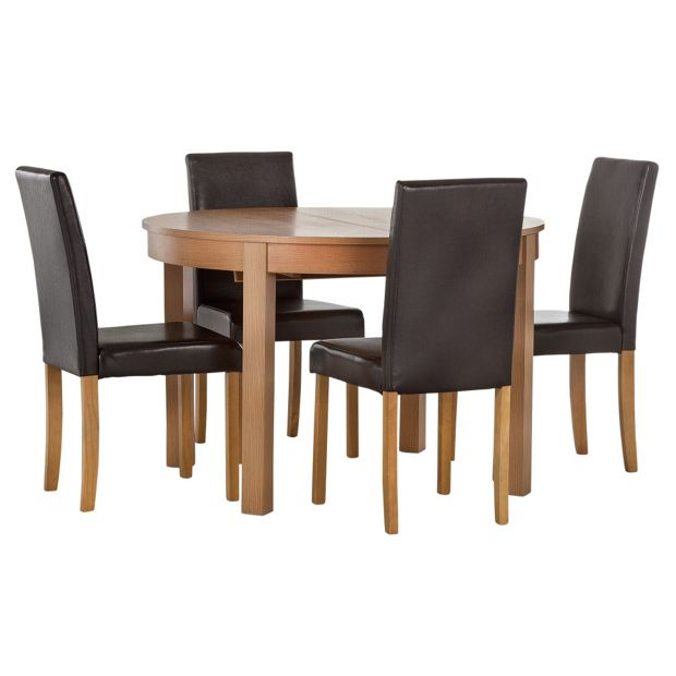 Buy Home Woodbury Oval Extendable Table And 4 Chairs