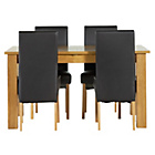 more details on Heart of House Hastings Ext Table & 4 Black Skirted Chairs.