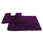 more details on Tufted Twist 2 Piece Bath Mat Set - Aubergine.