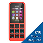 more details on EE Nokia 130 Mobile Phone - Red.