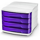 more details on CEP 4 Drawer Desktop Storage - Purple.