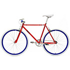 more details on Chill Bike 58cm with Blue Rims - Red.