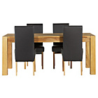 more details on Heart of House Aspley Table & 4 Black Skirted Chairs.