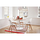 more details on Habitat Dining Set - Lance Oak Table & 4 Jerry Chairs.
