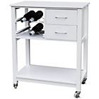 more details on Kitchen Trolley with MDF Pinewood Top - White.