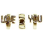 more details on Link Up Gold Plated Silver Love You Charms - Set of 3.