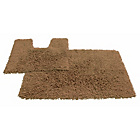more details on Tufted Twist 2 Piece Bath Mat Set - Mocha.