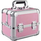 more details on Aluminium Cosmetics Case - Pink and Silver.