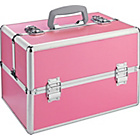 more details on Pink Aluminium Cosmetics Case - Large.
