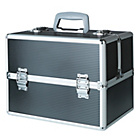 more details on Black Aluminium Cosmetics Case - Large.