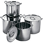 more details on Premier Housewares Stockpot Set of 4 - Stainless Steel.