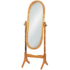 more details on Premier Housewares Oak Frame Oval Floor Mirror.