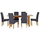 more details on Heart of House Hastings Ext Table & 6 Charcoal Chairs.