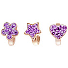 more details on Link Up Rose Gold Plated Silver Purple Crystal Charms - 3.
